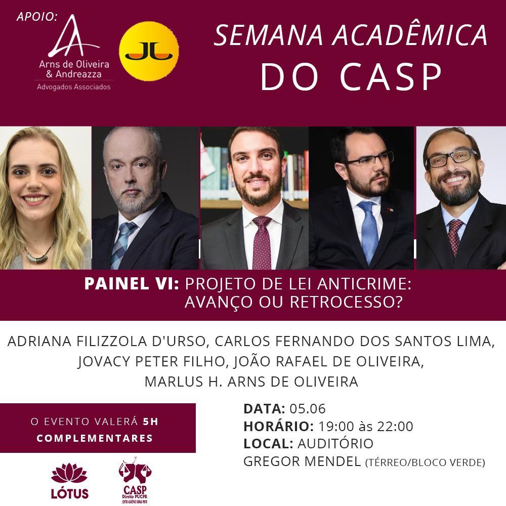 Arns de Oliveira & Andreazza apoia a Semana Acadêmica do CASP, na PUC-PR