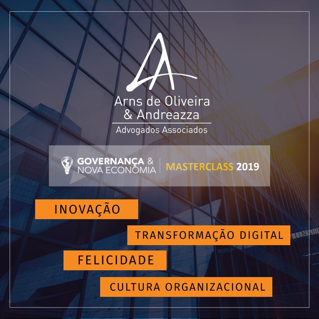 Evento Master Class 2019 – Governança e Nova Economia tem o apoio do escritório Arns de Oliveira & Andreazza