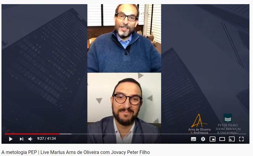 Live sobre o PEP está disponível no canal do YouTube do escritório
