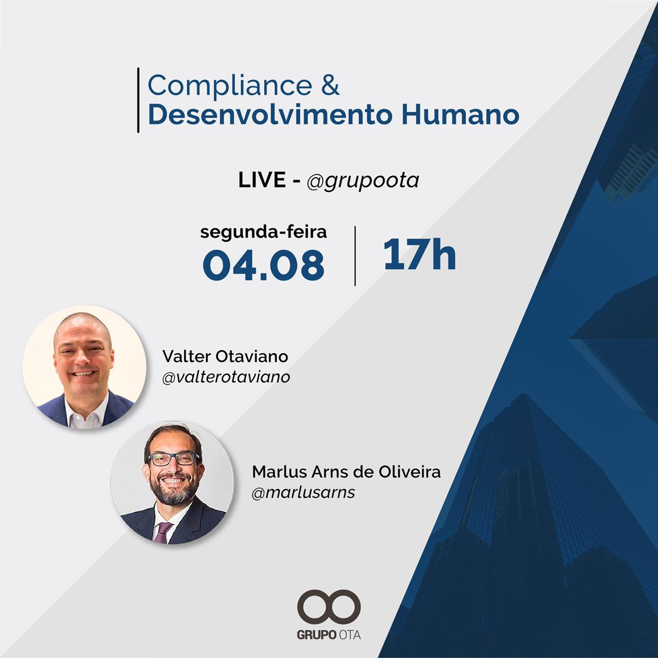 LIVE sobre Compliance e Desenvolvimento Humano