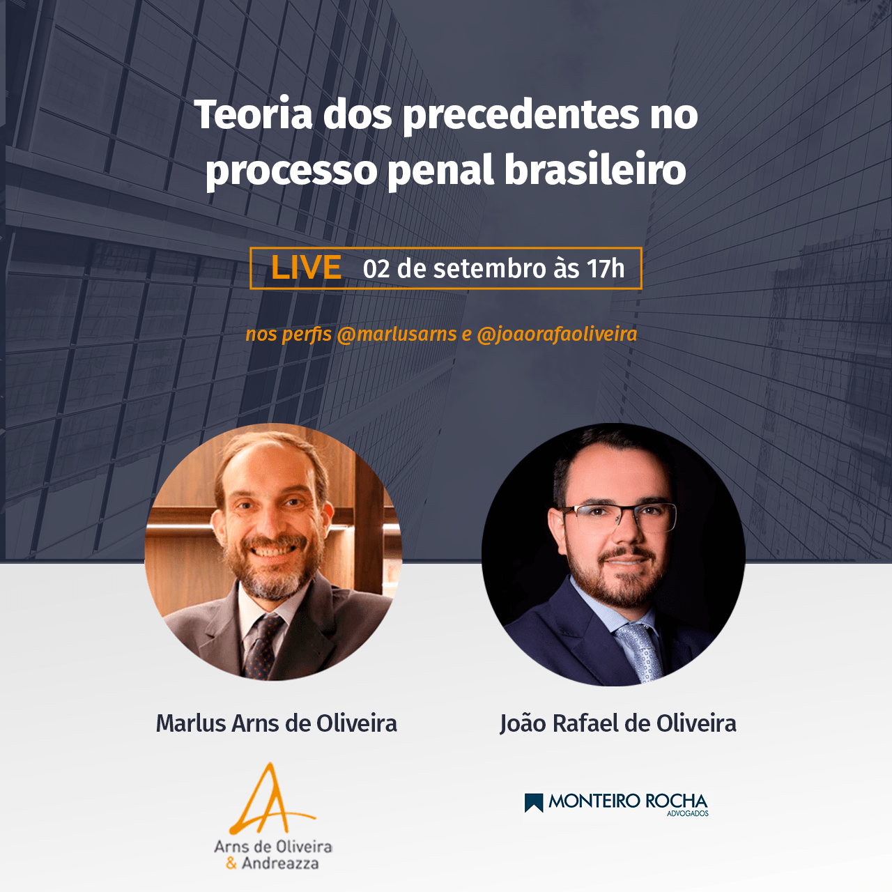 Live sobre a Teoria dos precedentes no processo penal brasileiro
